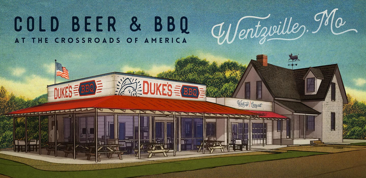 Dukes Bbq Shack Located In Historic